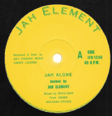 Jah Element - Jah Alone / Summer Time (Jah Element / Jah Fingers) 12""